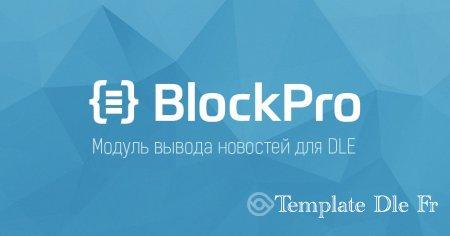 BlockPro (6.0.3) - module d'affichage de nouvelles professionnel pour DLE